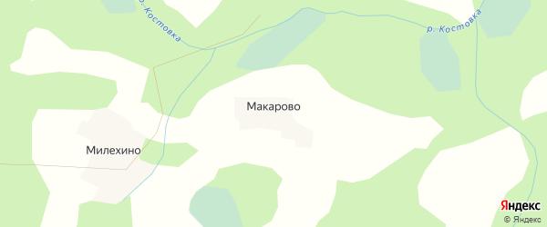 Карта деревни Макарово города Удомли в Тверской области с улицами и номерами домов