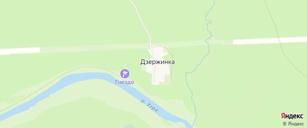 Карта деревни Дзержинки в Калужской области с улицами и номерами домов