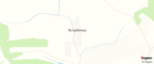 Карта деревни Ястребинки в Орловской области с улицами и номерами домов