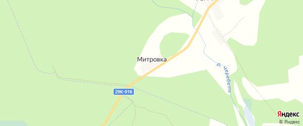 Карта деревни Митровка в Калужской области с улицами и номерами домов