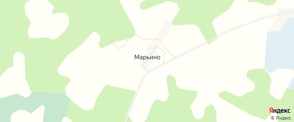 Карта деревни Марьино города Удомли в Тверской области с улицами и номерами домов