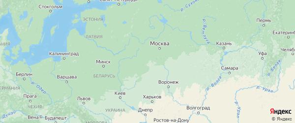 Карта Калужской области с городами и районами