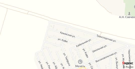 Крымская улица в поселке Приморский в Феодосии с номерами домов на карте. Спутник и схема онлайн
