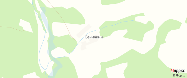 Карта деревни Сеничкин в Калужской области с улицами и номерами домов