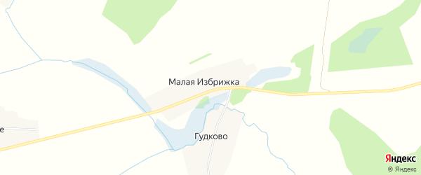 Карта деревни Малой Избрижки в Тверской области с улицами и номерами домов