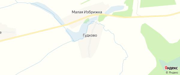 Карта деревни Гудково в Тверской области с улицами и номерами домов