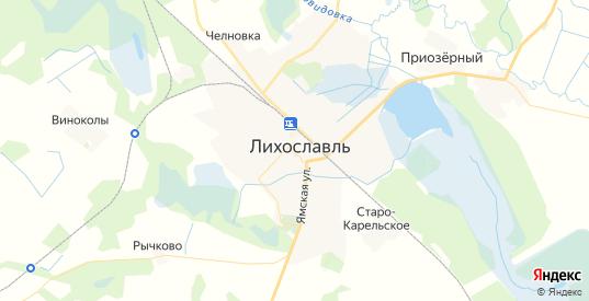 Карта Лихославля с улицами и домами подробная. Показать со спутника номера домов онлайн