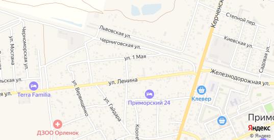 Молодежная улица в поселке Приморский в Феодосии с номерами домов на карте. Спутник и схема онлайн