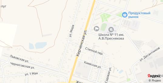 Керченская улица в поселке Приморский в Феодосии с номерами домов на карте. Спутник и схема онлайн