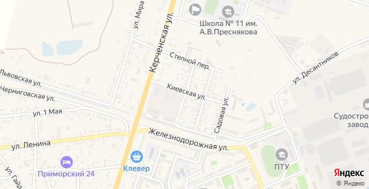 Симферопольская улица в поселке Приморский в Феодосии с номерами домов на карте. Спутник и схема онлайн