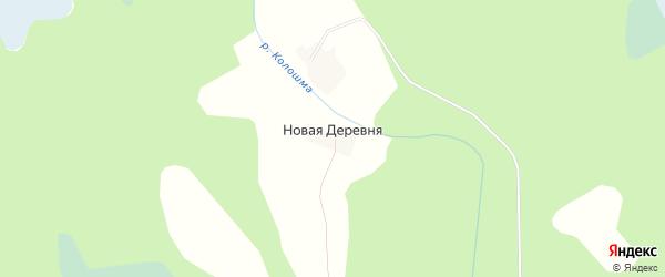 Карта деревни Новой Деревни в Вологодской области с улицами и номерами домов