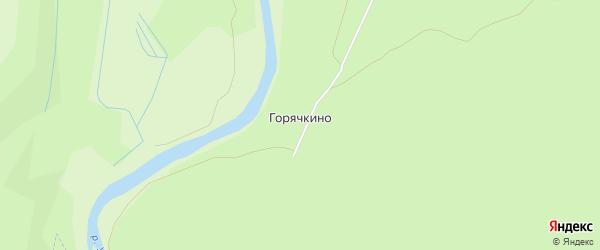 Карта деревни Горячкино в Калужской области с улицами и номерами домов