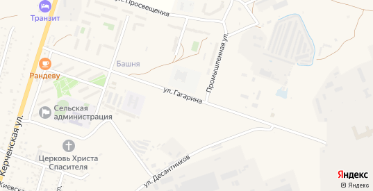 Улица Гагарина в поселке Приморский в Феодосии с номерами домов на карте. Спутник и схема онлайн