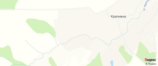 Карта села Крапивна в Калужской области с улицами и номерами домов