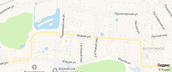 Новая улица на карте деревни Житонино с номерами домов