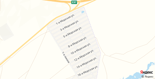 СТ Парус на карте Приморского поселка с номерами домов