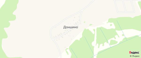 Ягодная улица на карте деревни Доншино Тверской области с номерами домов