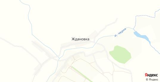 Карта деревни Ждановка в Орловской области с улицами, домами и почтовыми отделениями со спутника онлайн