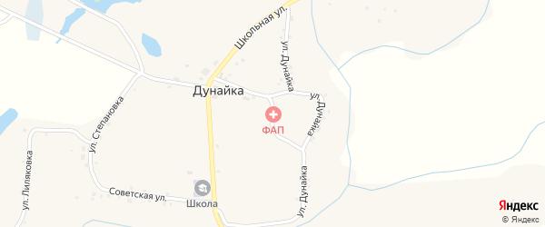 Улица Дунайка на карте села Дунайки с номерами домов