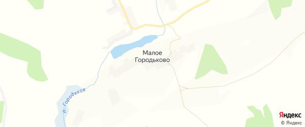 Карта села Малое Городьково в Курской области с улицами и номерами домов