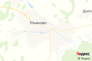 Карта с. Ульяново Калужская область