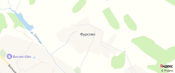 Карта деревни Фурсово в Калужской области с улицами и номерами домов