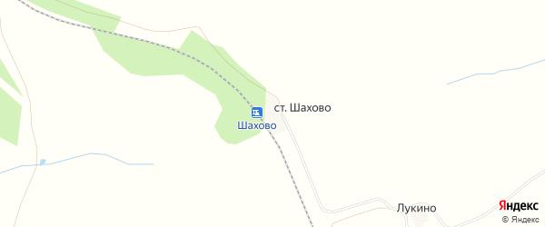 Карта деревни Шахово в Орловской области с улицами и номерами домов