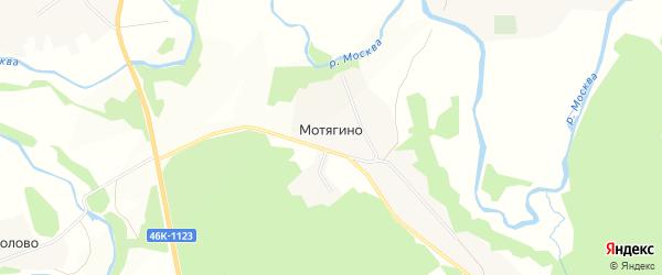 Территория садовых участков на карте деревни Мотягино с номерами домов