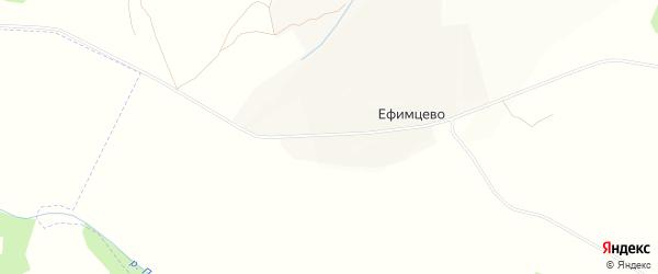 Карта села Ефимцево в Калужской области с улицами и номерами домов
