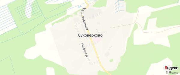 Карта поселка Суховерково в Тверской области с улицами и номерами домов