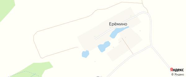 Лесная улица на карте деревни Еремино Калужской области с номерами домов