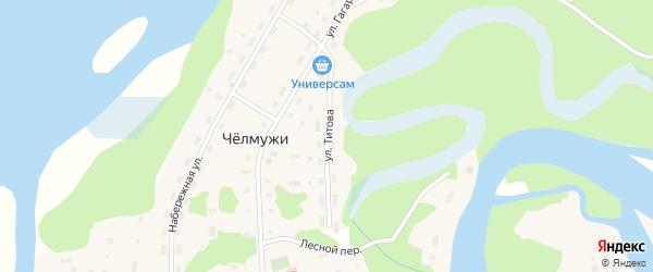 Улица Титова на карте деревни Челмужи Карелии с номерами домов