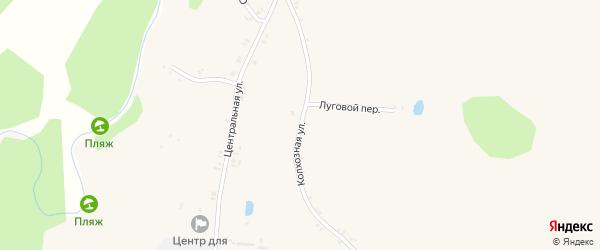 Колхозная улица на карте села Козинки Белгородской области с номерами домов