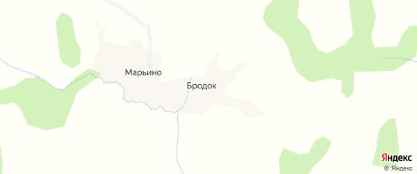 Карта деревни Марьино в Калужской области с улицами и номерами домов