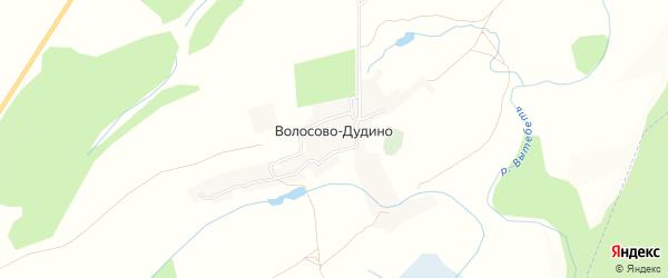 Карта села Волосово-Дудино в Калужской области с улицами и номерами домов