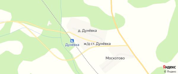 Карта деревни Дуневки в Новгородской области с улицами и номерами домов