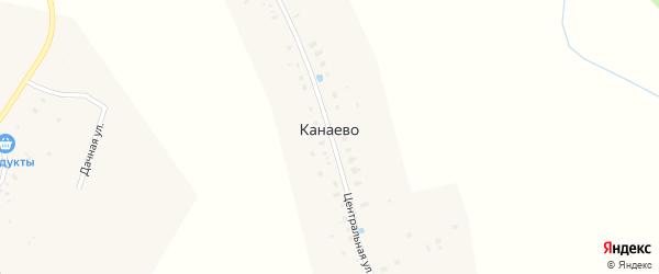 Центральная улица на карте деревни Канаево с номерами домов