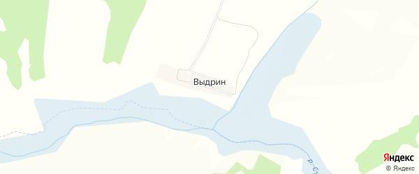 Карта поселка Выдрина в Курской области с улицами и номерами домов