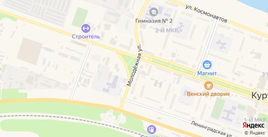 Молодежная улица в Курчатове с номерами домов на карте. Спутник и схема онлайн