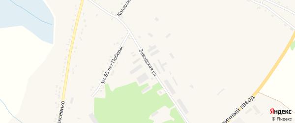 Заводская улица на карте села Горы-Подол Белгородской области с номерами домов