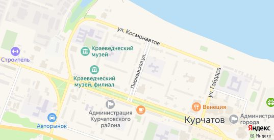 Пионерская улица в Курчатове с номерами домов на карте. Спутник и схема онлайн