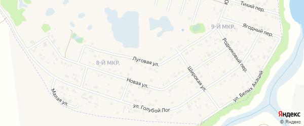 Луговая улица на карте Курчатова с номерами домов