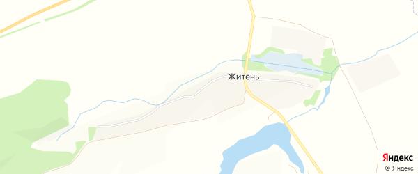 Карта села Житня в Курской области с улицами и номерами домов