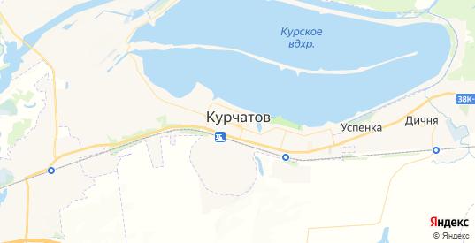 Карта Курчатова с улицами и домами подробная. Показать со спутника номера домов онлайн