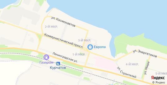 Промышленная зона Коммунально-складская зона на карте Курчатова с номерами домов