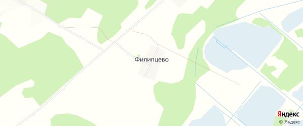 Карта деревни Филипцево в Тверской области с улицами и номерами домов