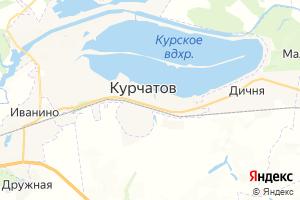 Карта г. Курчатов Курская область