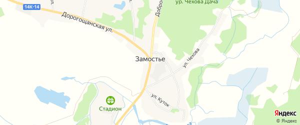 Карта села Замостья в Белгородской области с улицами и номерами домов