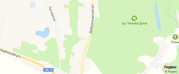 Добросельская улица на карте села Замостья Белгородской области с номерами домов