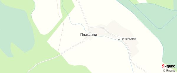 Карта деревни Плаксино в Вологодской области с улицами и номерами домов